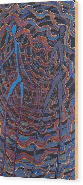 Godnatt Wood Print by Rika Maja Duevel