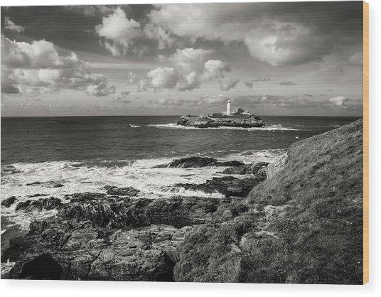 Godrevy Lighthouse 1 Wood Print