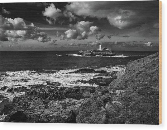 Godrevy Lighthouse 2 Wood Print