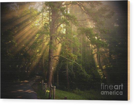 God's Light 2 Wood Print