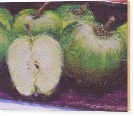 Gods Little Green Apples Wood Print by Karla Phlypo-Price
