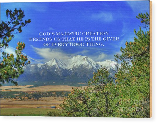 God's Majestic Creation Wood Print