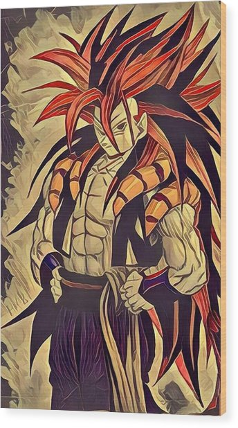 Gogeta Wood Print by Aftab Khan