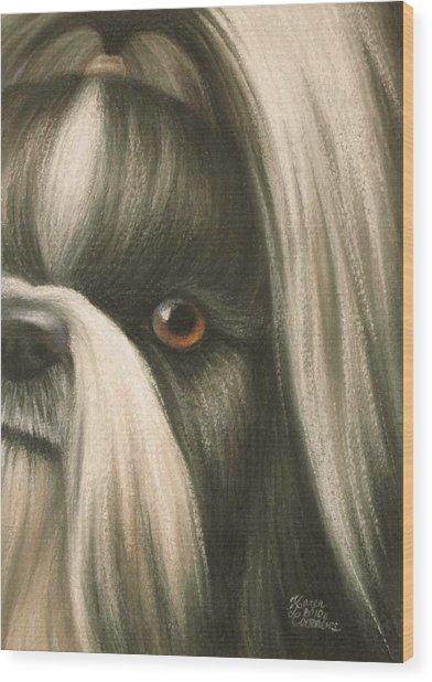 Goggie Shih Tzu Wood Print by Karen Coombes