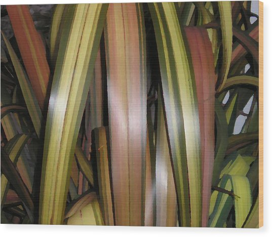 Going Native Wood Print by Sher Green
