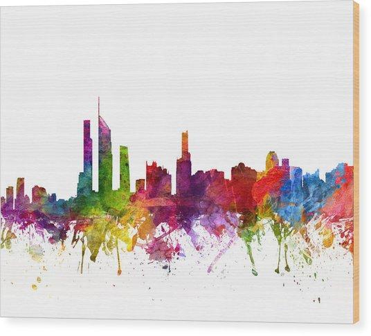 Gold Coast Australia Cityscape 06 Wood Print