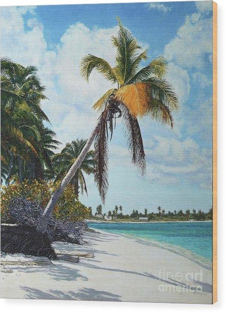 Gold Coconut Wood Print