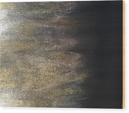 Gold Dusty Night Wood Print