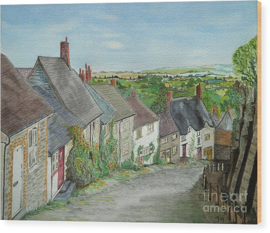 Gold Hill  Shaftesbury Wood Print