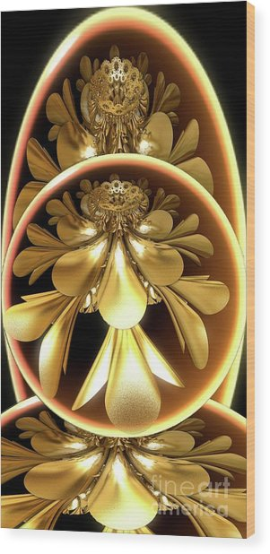 Gold Lacquer Wood Print