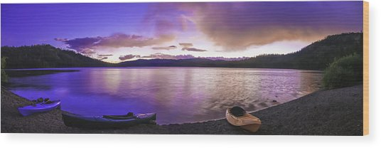 Wood Print featuring the photograph Gold Lake Pano by Sherri Meyer