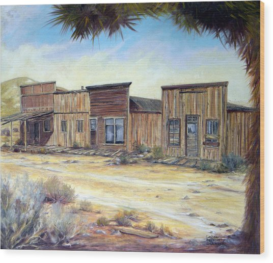 Gold Point Nevada Wood Print by Evelyne Boynton Grierson