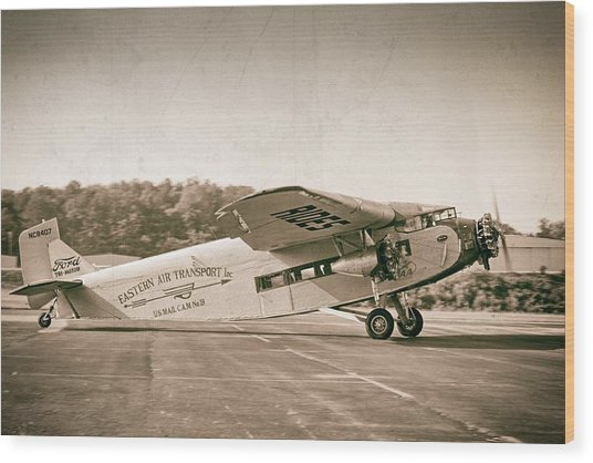 Golden Age Trimotor Wood Print