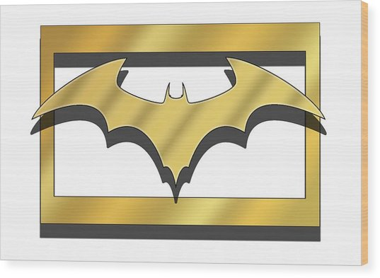 Golden Bat Wood Print