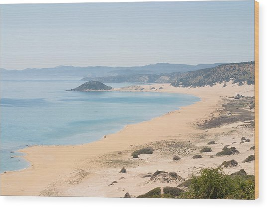 Golden Beach From A High Perspective Wood Print