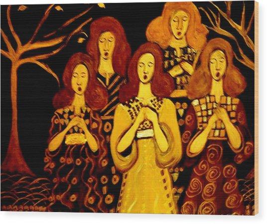 Golden Chords Wood Print
