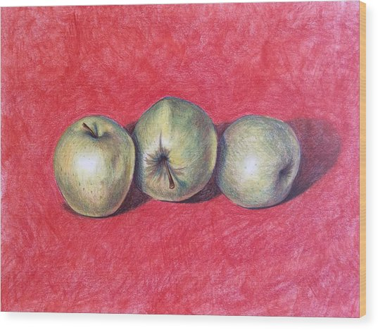 Golden Delicious Wood Print