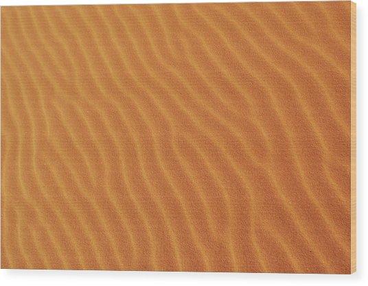 Golden Desert Sands Wood Print