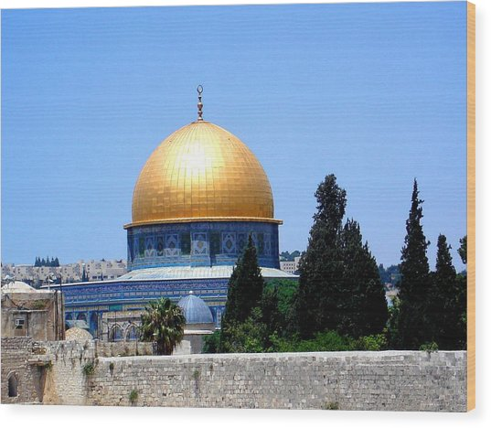 Golden Dome Wood Print by Roberto Alamino