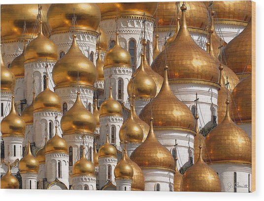 Golden Domes Wood Print by Joe Bonita