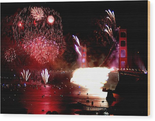 Golden Gate 75th Anniversary 2 Wood Print