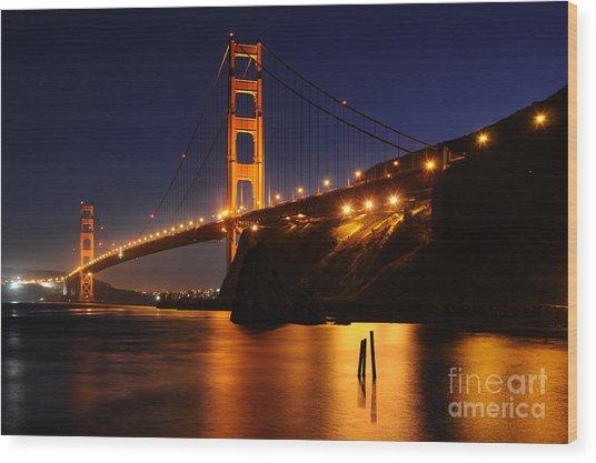 Golden Gate Bridge 1 Wood Print