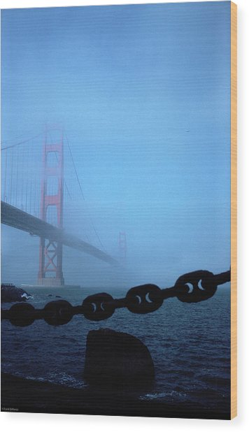Golden Gate Bridge From Fort Point Wood Print