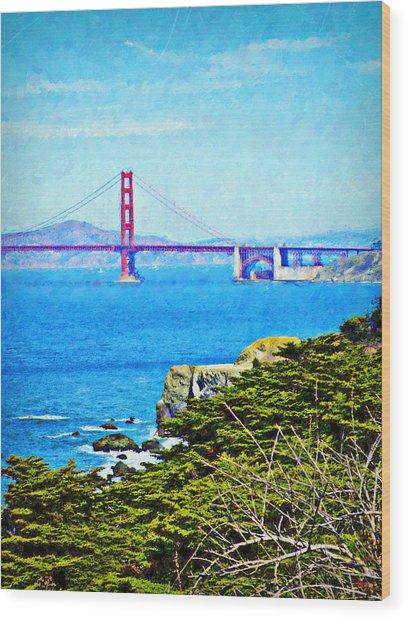 Golden Gate Bridge From The Coastal Trail Wood Print