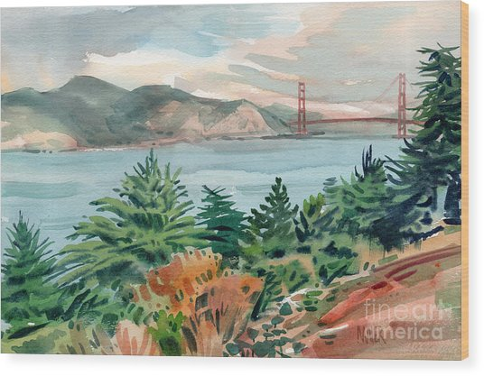 Golden Gate Wood Print by Donald Maier