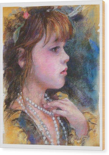 Golden Girl Wood Print by Debra Jones