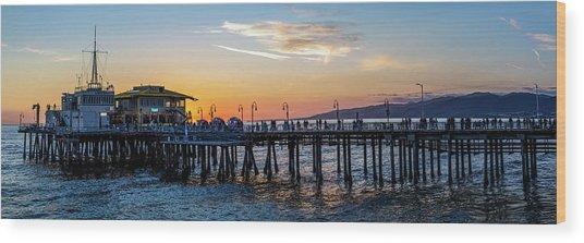 Golden Hour - Panorama Wood Print