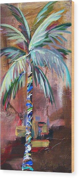Golden Jasper Palm Wood Print