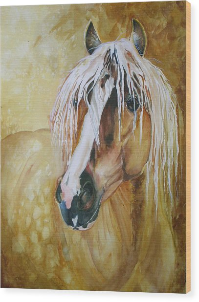 Golden Lance Wood Print by Gina Hall