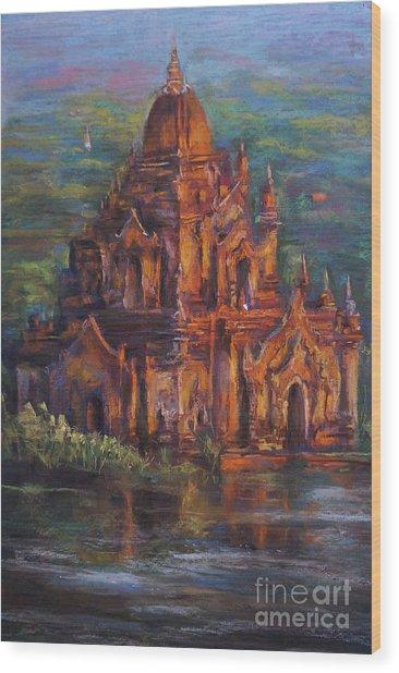Golden Light Wood Print