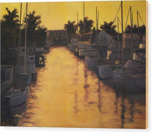 Golden Marina 2 Wood Print