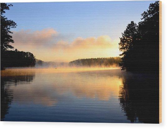 Golden Mist Wood Print