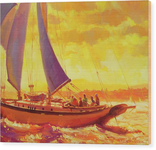 Golden Opportunity Wood Print