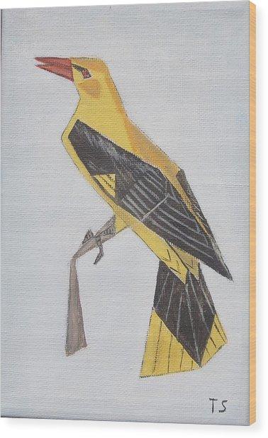 Golden Oriole Wood Print