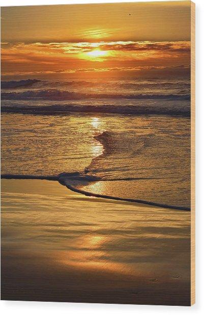 Golden Pacific Sunset Wood Print