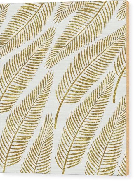 Golden Palm Wood Print