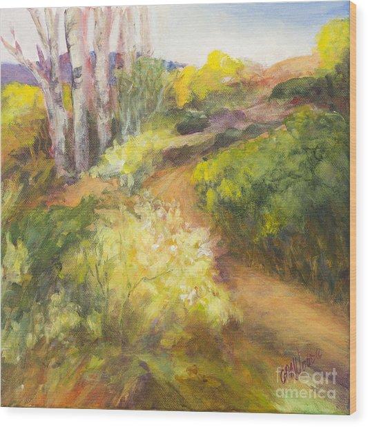 Golden Pathway Wood Print