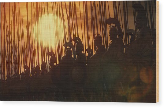 Golden Phalanx - 01  Wood Print