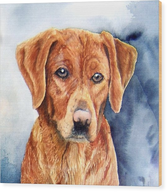 Golden Retriever Sara Wood Print by JoLyn Holladay