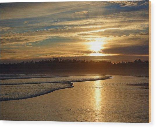 Long Beach, British Columbia Wood Print