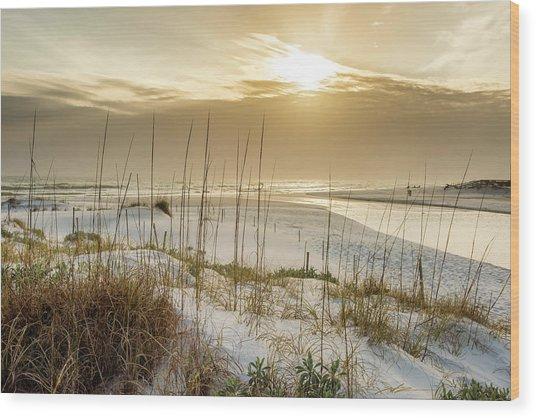 Golden Seagrove Beach Sunset Wood Print