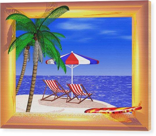 Golden Summer Wood Print