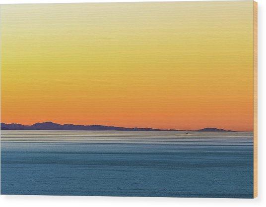 Golden Sunset Series I Wood Print