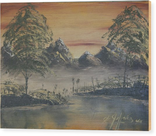 Golden Sunset Wood Print by Gregory Jeffries