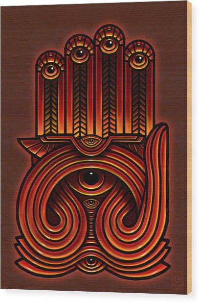 Golden Teacher 10 Wood Print by George Coghill