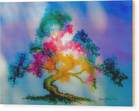 Da183 Golden Tree Daniel Adams Wood Print